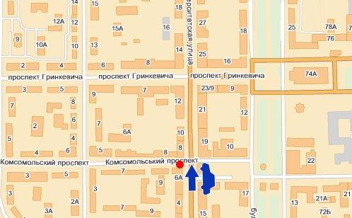 IDMedia Наружная реклама в городе Донецк (Донецкая область), Брандмауэр в городе Донецк №10018 схема