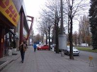 Тумба №148989 в городе Днепр (Днепропетровская область), размещение наружной рекламы, IDMedia-аренда по самым низким ценам!