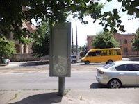 Тумба №149404 в городе Днепр (Днепропетровская область), размещение наружной рекламы, IDMedia-аренда по самым низким ценам!
