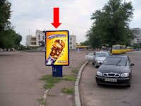 Ситилайт №159407 в городе Черкассы (Черкасская область), размещение наружной рекламы, IDMedia-аренда по самым низким ценам!