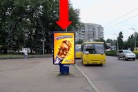 Ситилайт №159409 в городе Черкассы (Черкасская область), размещение наружной рекламы, IDMedia-аренда по самым низким ценам!