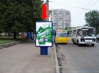 Ситилайт №159413 в городе Черкассы (Черкасская область), размещение наружной рекламы, IDMedia-аренда по самым низким ценам!