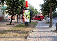 Ситилайт №160244 в городе Черновцы (Черновицкая область), размещение наружной рекламы, IDMedia-аренда по самым низким ценам!