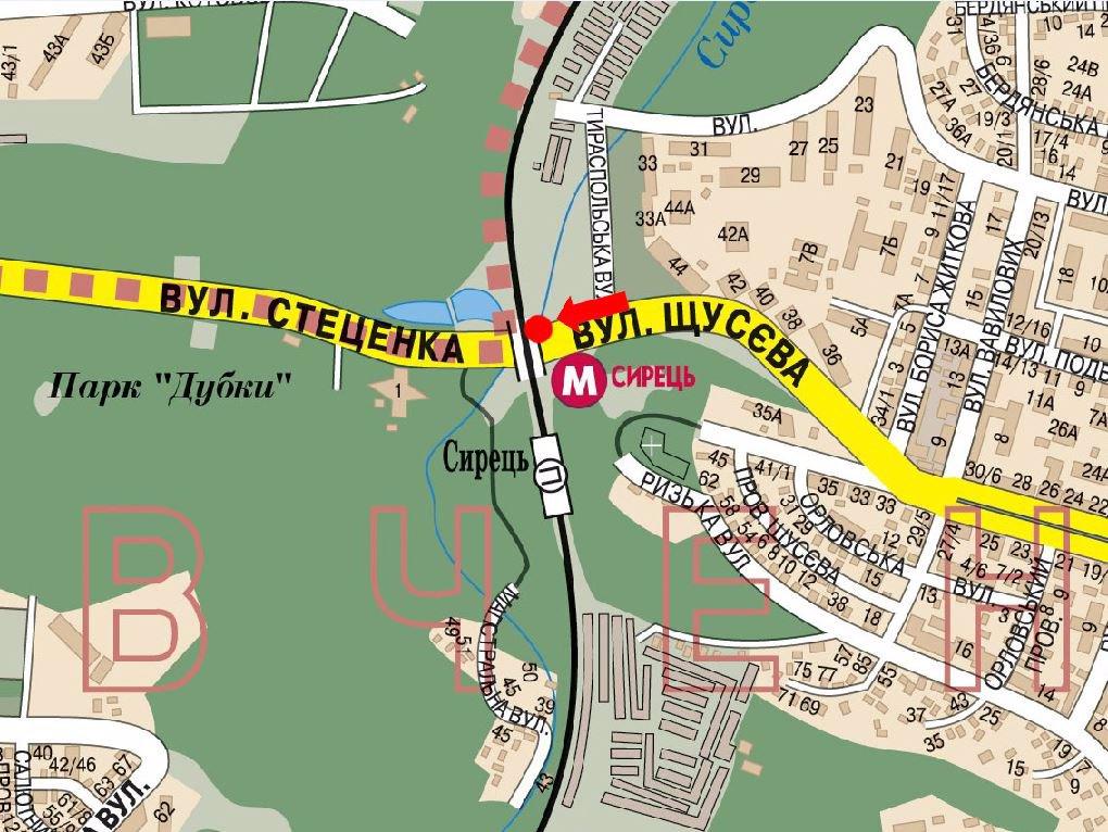IDMedia Арендовать и разместить Растяжку в городе Киев (Киевская область) №160593 схема