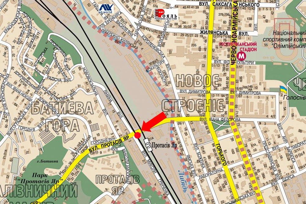 IDMedia Арендовать и разместить Растяжку в городе Киев (Киевская область) №160662 схема