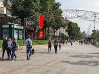 Ситилайт №162275 в городе Киев (Киевская область), размещение наружной рекламы, IDMedia-аренда по самым низким ценам!