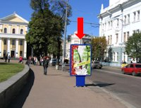 Ситилайт №173160 в городе Житомир (Житомирская область), размещение наружной рекламы, IDMedia-аренда по самым низким ценам!