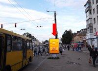 Ситилайт №173163 в городе Житомир (Житомирская область), размещение наружной рекламы, IDMedia-аренда по самым низким ценам!