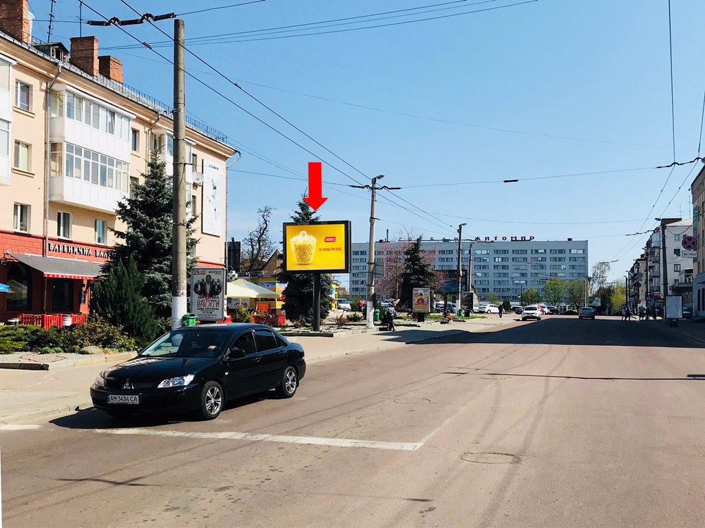 Бэклайт №173401 в городе Житомир (Житомирская область), размещение наружной рекламы, IDMedia-аренда по самым низким ценам!