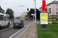 Ситилайт №177118 в городе Луцк (Волынская область), размещение наружной рекламы, IDMedia-аренда по самым низким ценам!