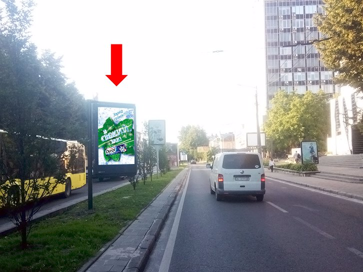 Ситилайт №177550 в городе Львов (Львовская область), размещение наружной рекламы, IDMedia-аренда по самым низким ценам!