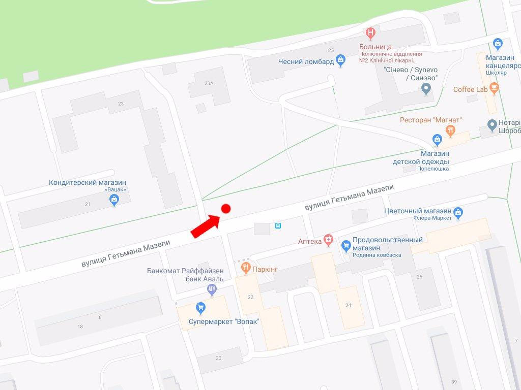 IDMedia Арендовать и разместить Ситилайт в городе Львов (Львовская область) №177554 схема