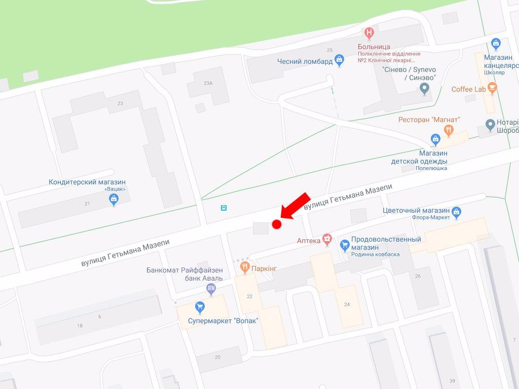 IDMedia Арендовать и разместить Ситилайт в городе Львов (Львовская область) №177556 схема
