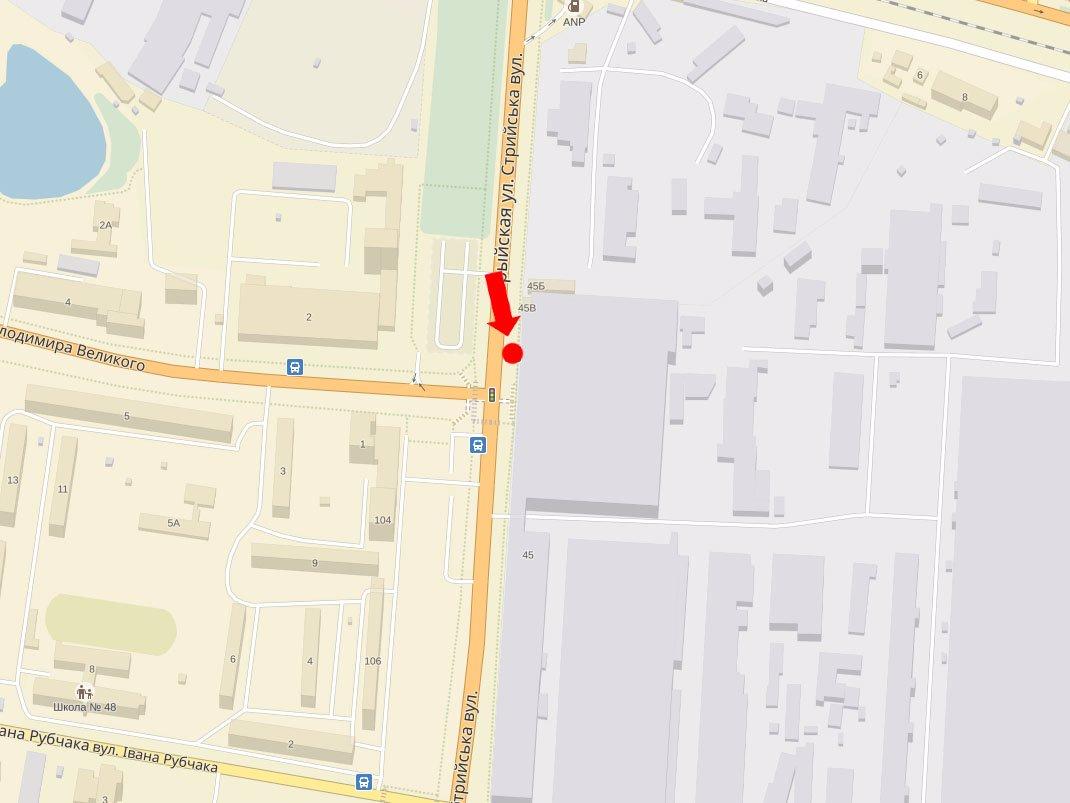 IDMedia Арендовать и разместить Ситилайт в городе Львов (Львовская область) №177641 схема