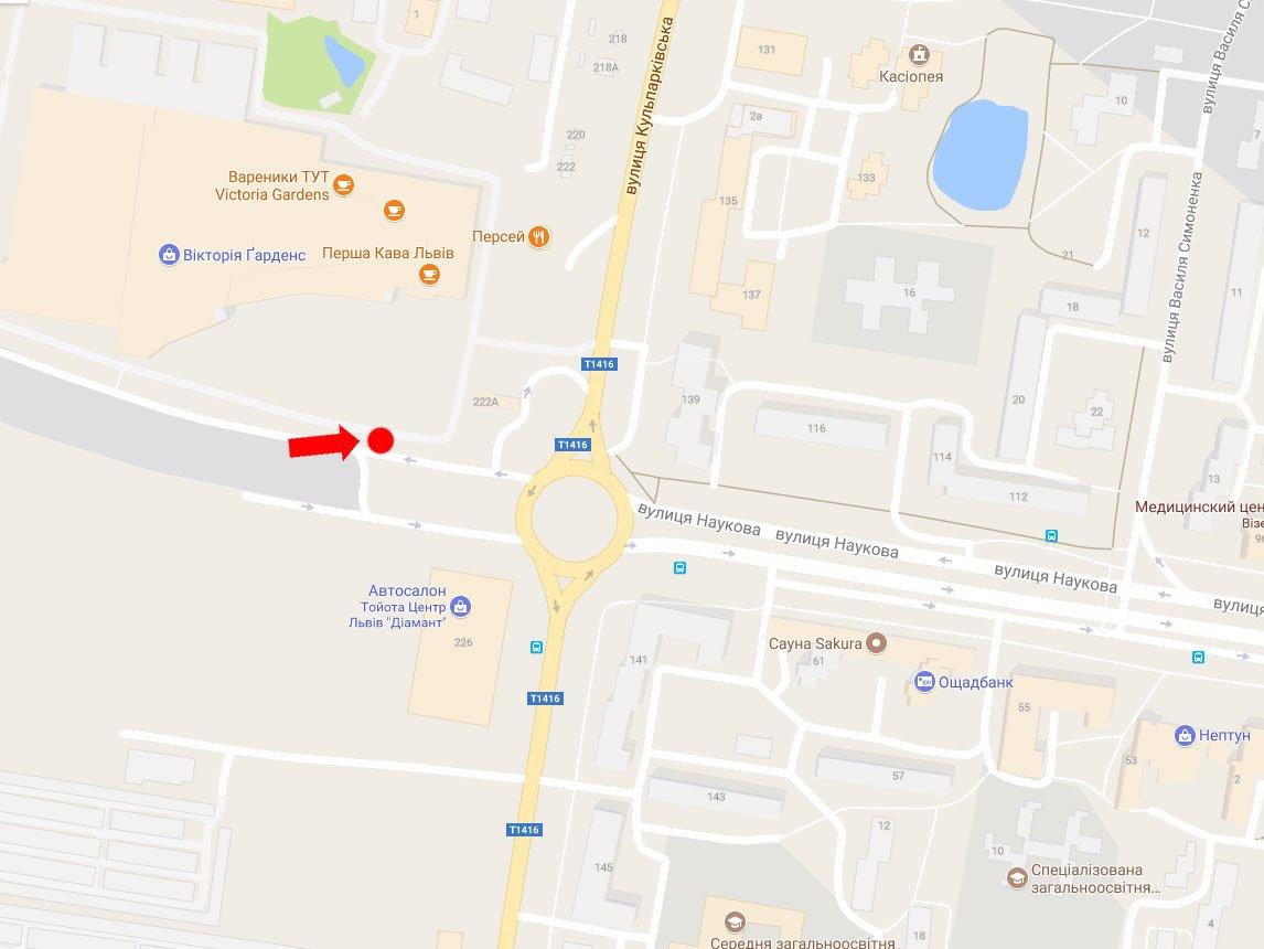 IDMedia Арендовать и разместить Ситилайт в городе Львов (Львовская область) №177643 схема