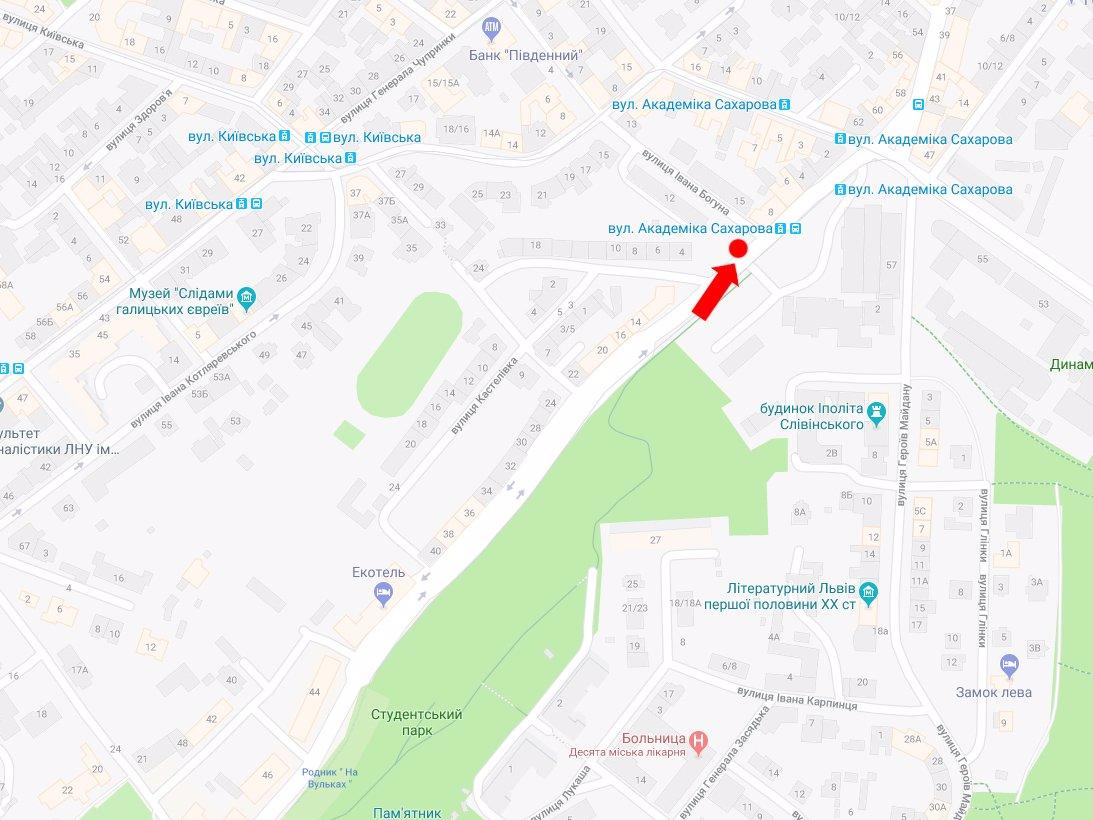 IDMedia Арендовать и разместить Ситилайт в городе Львов (Львовская область) №177655 схема