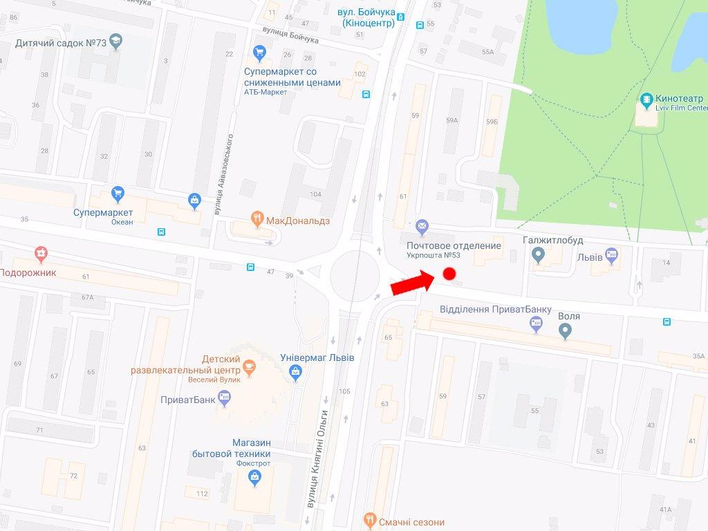 IDMedia Арендовать и разместить Ситилайт в городе Львов (Львовская область) №177657 схема