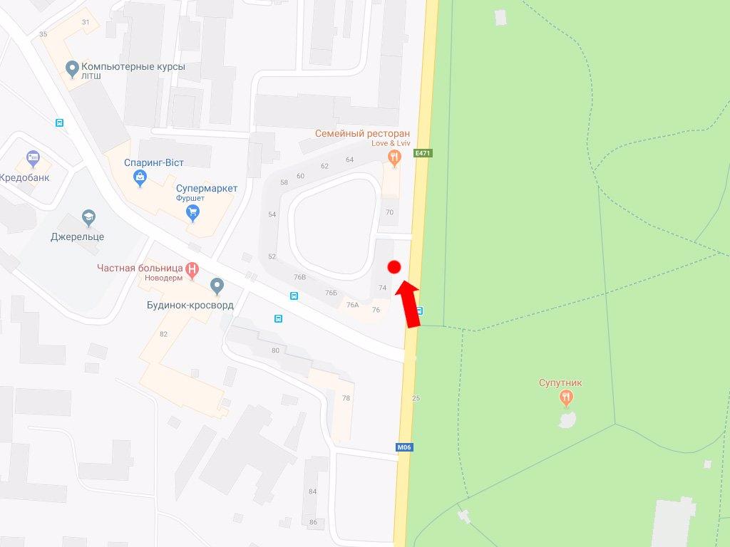 IDMedia Арендовать и разместить Ситилайт в городе Львов (Львовская область) №177661 схема