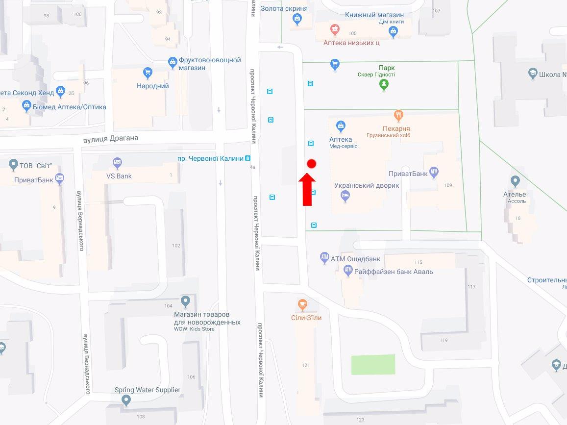 IDMedia Арендовать и разместить Ситилайт в городе Львов (Львовская область) №177780 схема