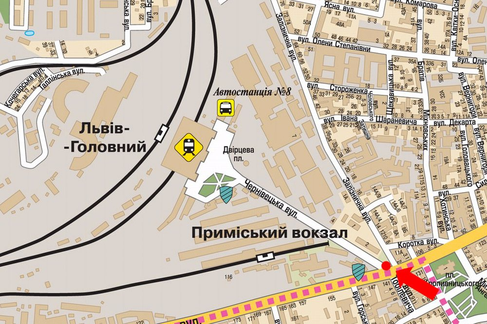 IDMedia Арендовать и разместить Ситилайт в городе Львов (Львовская область) №178131 схема