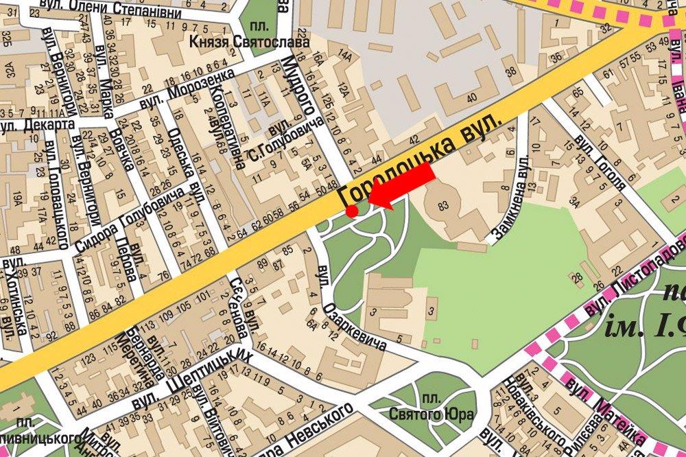 IDMedia Арендовать и разместить Ситилайт в городе Львов (Львовская область) №178136 схема