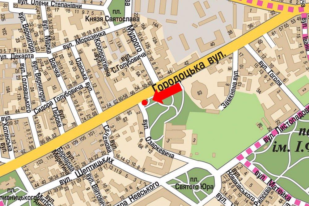 IDMedia Арендовать и разместить Ситилайт в городе Львов (Львовская область) №178138 схема