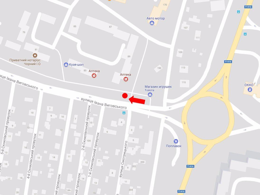 IDMedia Арендовать и разместить Ситилайт в городе Львов (Львовская область) №178148 схема