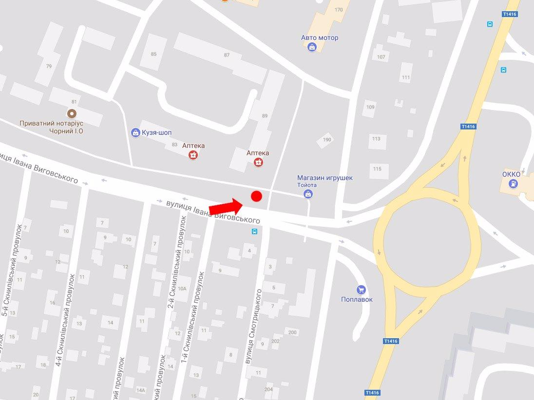 IDMedia Арендовать и разместить Ситилайт в городе Львов (Львовская область) №178149 схема