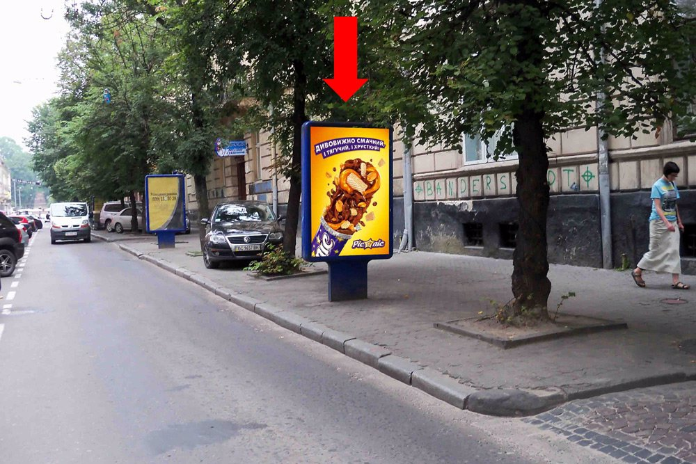Ситилайт №178212 в городе Львов (Львовская область), размещение наружной рекламы, IDMedia-аренда по самым низким ценам!