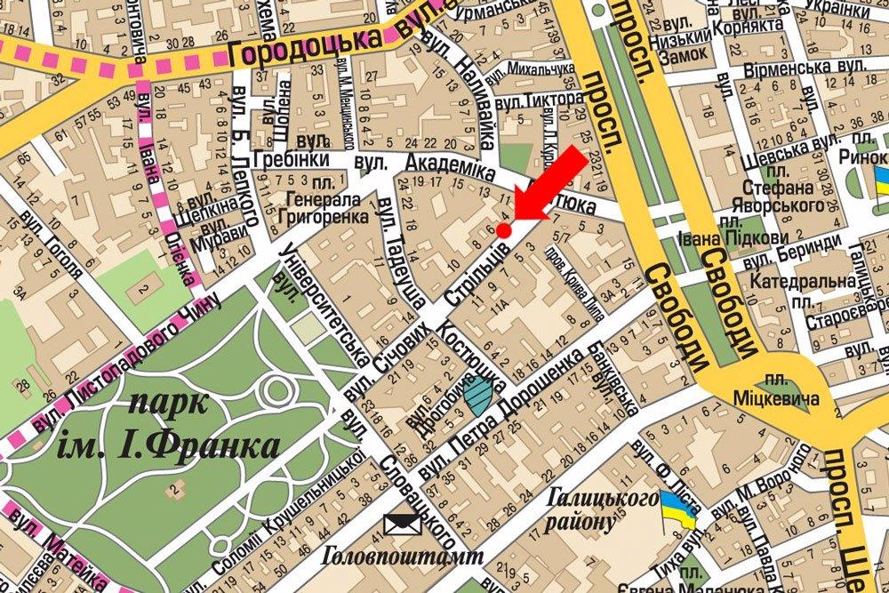 IDMedia Арендовать и разместить Ситилайт в городе Львов (Львовская область) №178212 схема