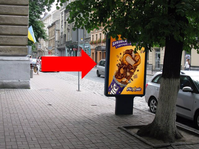 Ситилайт №178216 в городе Львов (Львовская область), размещение наружной рекламы, IDMedia-аренда по самым низким ценам!