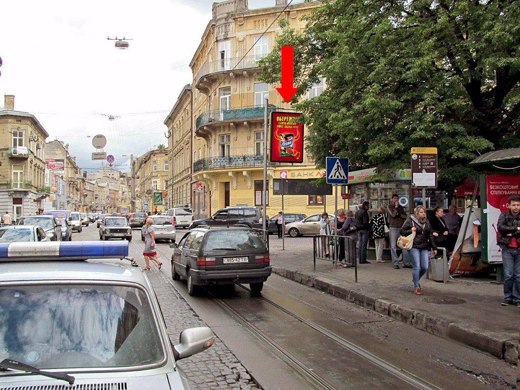 Ситилайт №178221 в городе Львов (Львовская область), размещение наружной рекламы, IDMedia-аренда по самым низким ценам!