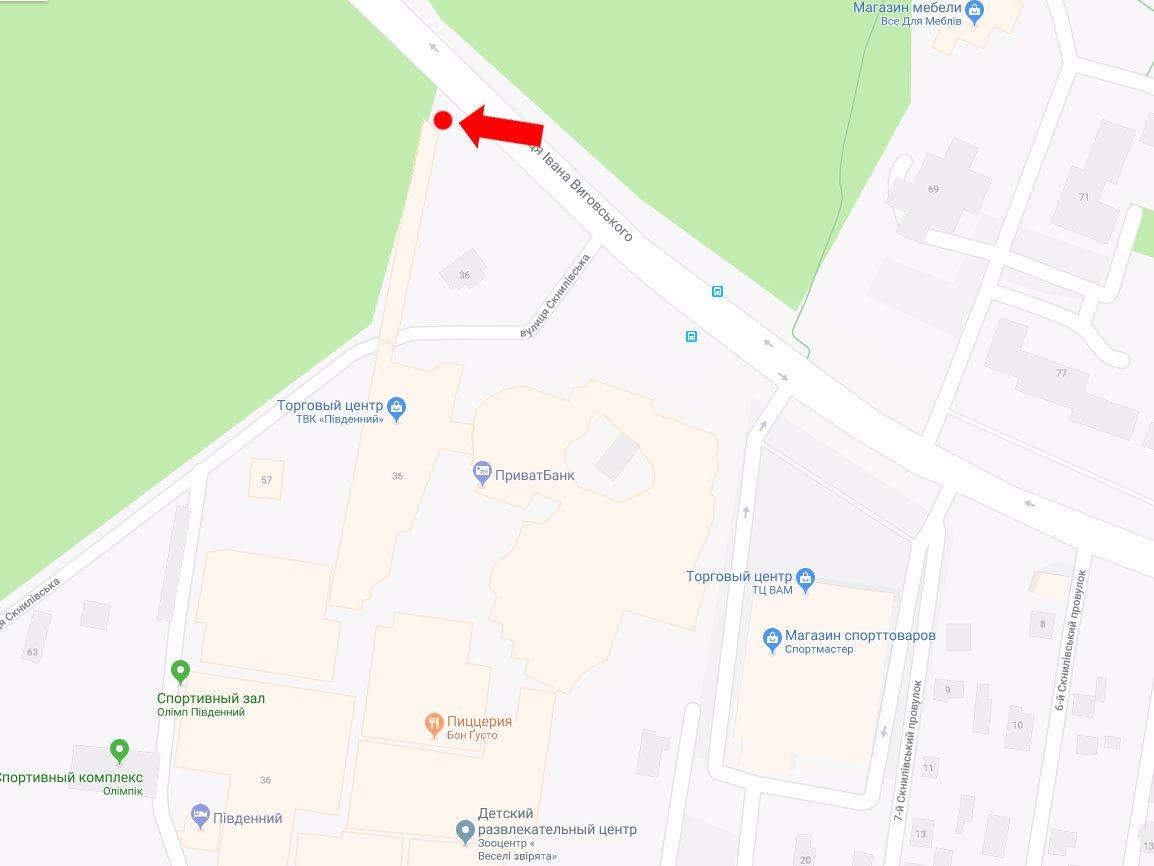 IDMedia Арендовать и разместить Ситилайт в городе Львов (Львовская область) №178231 схема