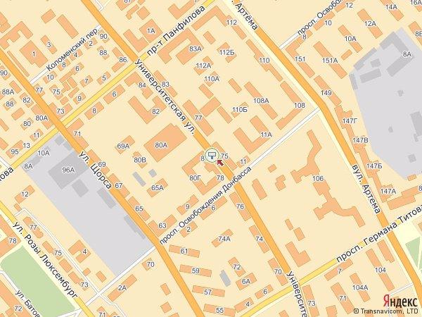 IDMedia Арендовать и разместить Бэклайт в городе Донецк (Донецкая область) №180 схема
