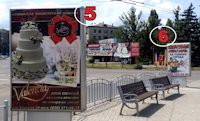 Ситилайт №187321 в городе Славянск (Донецкая область), размещение наружной рекламы, IDMedia-аренда по самым низким ценам!