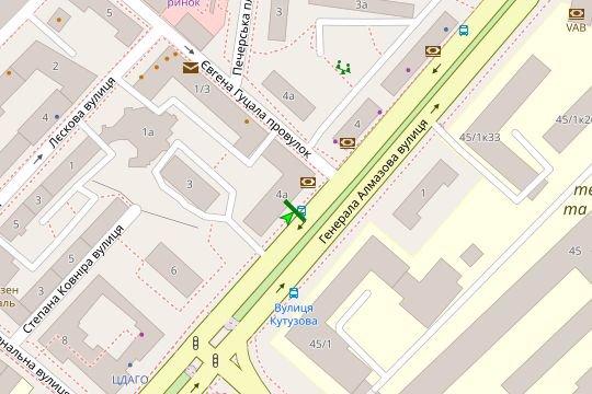 IDMedia Арендовать и разместить Остановку в городе Киев (Киевская область) №187424 схема