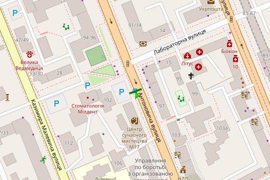 IDMedia Арендовать и разместить Остановку в городе Киев (Киевская область) №187426 схема
