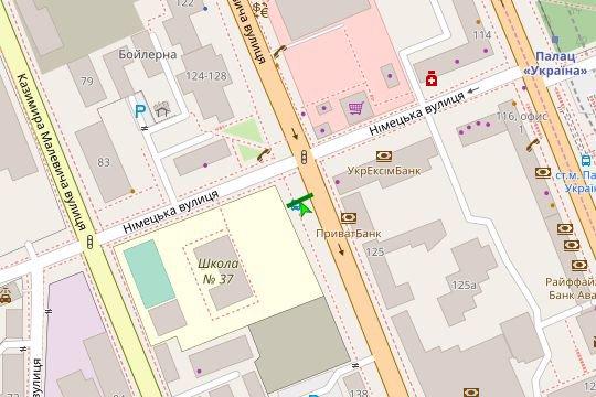 IDMedia Арендовать и разместить Остановку в городе Киев (Киевская область) №187428 схема