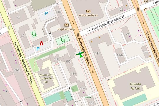 IDMedia Арендовать и разместить Остановку в городе Киев (Киевская область) №187429 схема