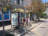 Остановка №187432 в городе Киев (Киевская область), размещение наружной рекламы, IDMedia-аренда по самым низким ценам!
