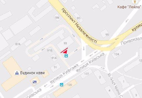 IDMedia Арендовать и разместить Билборд в городе Житомир (Житомирская область) №199657 схема