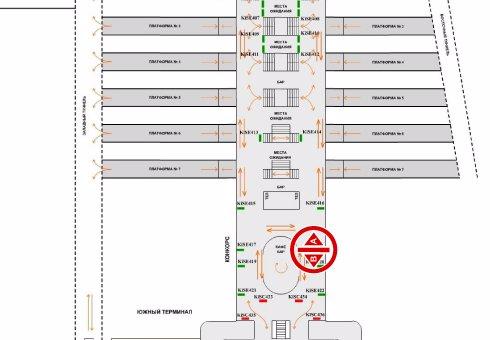IDMedia Арендовать и разместить Indoor в городе Киев (Киевская область) №200801 схема