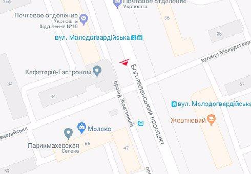 IDMedia Наружная реклама в городе Николаев (Николаевская область), Бэклайт в городе Николаев №201068 схема