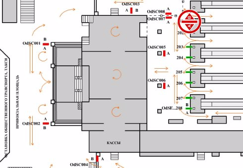 IDMedia Арендовать и разместить Indoor в городе Одесса (Одесская область) №201975 схема