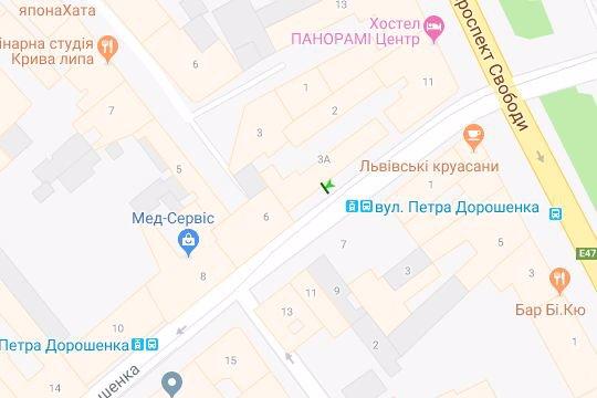 IDMedia Арендовать и разместить Остановку в городе Львов (Львовская область) №206482 схема