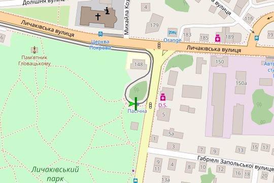 IDMedia Арендовать и разместить Остановку в городе Львов (Львовская область) №206514 схема
