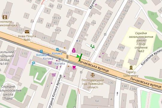 IDMedia Арендовать и разместить Остановку в городе Львов (Львовская область) №206516 схема