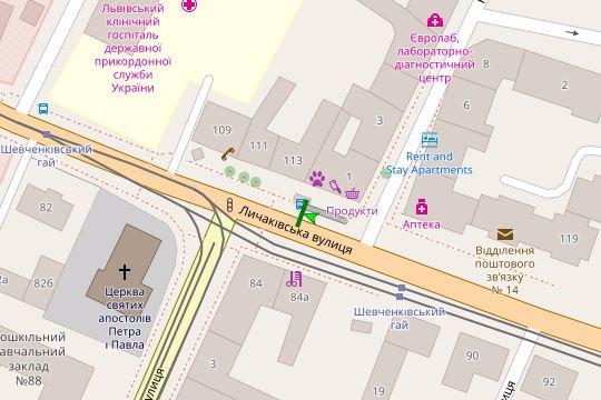 IDMedia Арендовать и разместить Остановку в городе Львов (Львовская область) №206517 схема