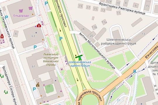 IDMedia Наружная реклама в городе Львов (Львовская область), Остановку в городе Львов №206538 схема