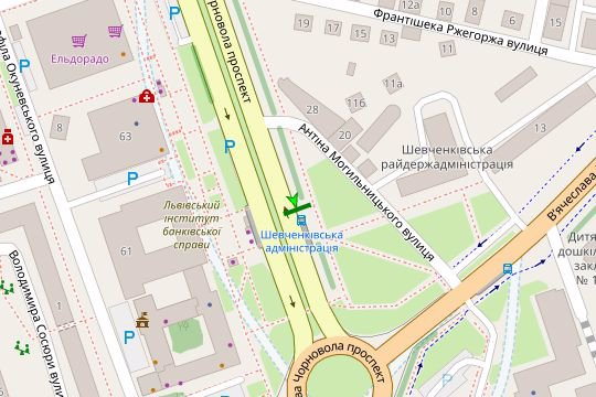 IDMedia Арендовать и разместить Остановку в городе Львов (Львовская область) №206539 схема